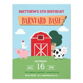 Convite da festança do Barnyard