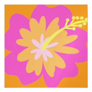 Convite da flor do hibiscus