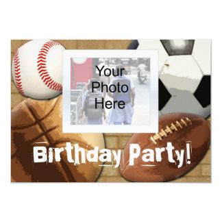 Convite da foto, aniversário feitos sob encomenda convite 12.7 x 17.78cm
