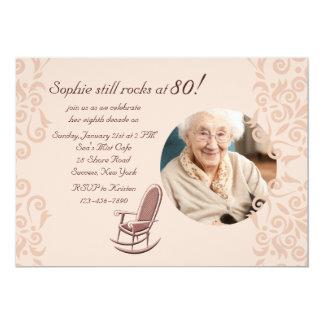 Convite da foto da cadeira de balanço