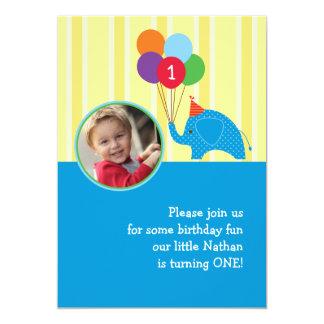 Convite da foto da festa de aniversário do convite 12.7 x 17.78cm