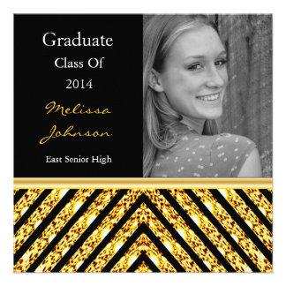 Convite da foto da graduação do brilho do ouro