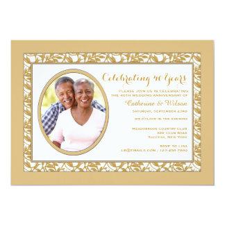 Convite da foto da reflexão do ouro