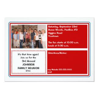 Convite da foto da reunião de família