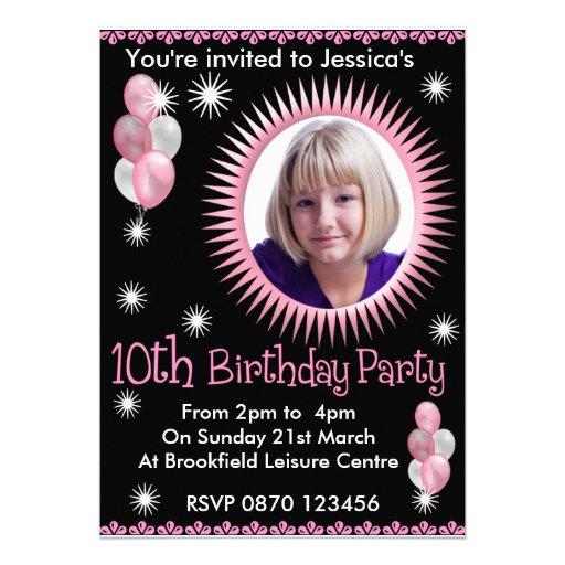 Convite da foto do aniversário das meninas 10o