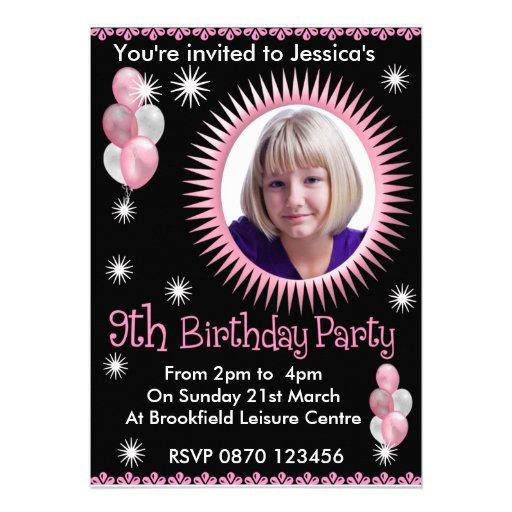 Convite da foto do aniversário das meninas 9o