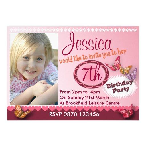 Convite da foto do aniversário das meninas - algum