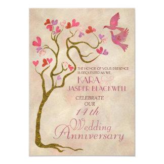 Convite da foto do aniversário de casamento da convite 12.7 x 17.78cm