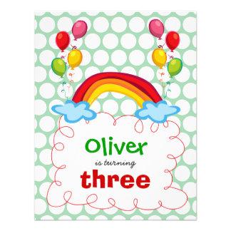 Convite da foto do aniversário de criança dos arco