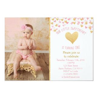 Convite da foto do aniversário do querido pequeno