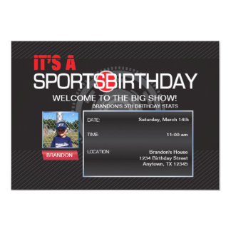 Convite da foto do aniversário dos esportes
