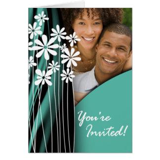 Convite da foto do casamento do jardim (jade) cartão comemorativo