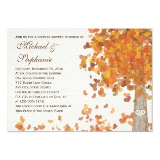Convite da foto do chá dos casais da queda convite 12.7 x 17.78cm