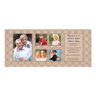 Convite da foto dos aniversários do casal multi