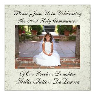 Convite da foto - primeiro comunhão santamente