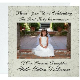 Convite da foto - primeiro convite do comunhão