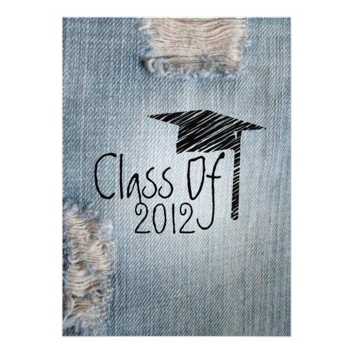 Convite da graduação - classe rasgada de jeans de