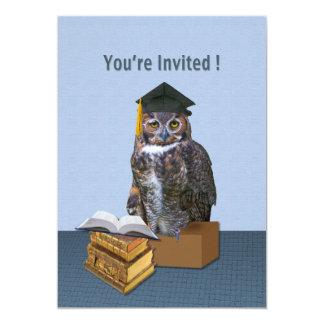 Convite da graduação, coruja cómico