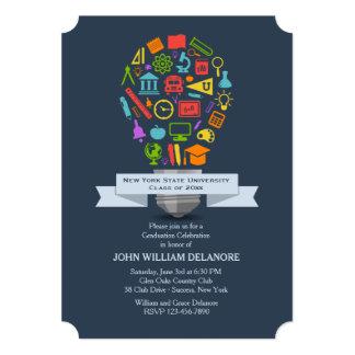Convite da graduação da ampola da escola
