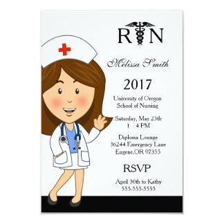 Convite da graduação da escola de cuidados