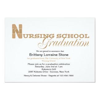 Convite da graduação da escola de cuidados do