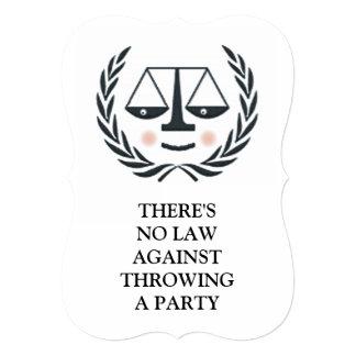 Convite da graduação da escola de direito