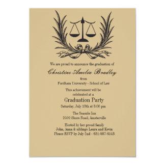 Convite da graduação da escola de direito da