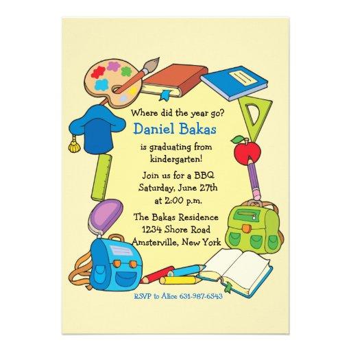 Convite da graduação da escola primária