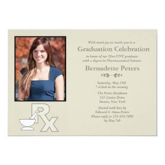 Convite da graduação da foto da escola da farmácia