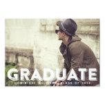 Convite da graduação da foto da tipografia do