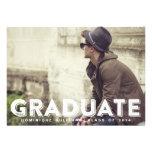 Convite da graduação da foto da tipografia do Grun