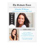 Convite da graduação da foto do jornal