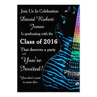 Convite da graduação da guitarra do azul de