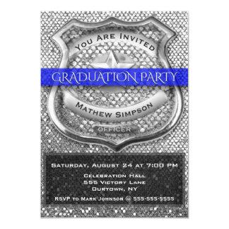 Convite da graduação do agente da polícia