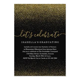 Convite da graduação do brilho do ouro
