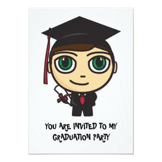 Convite da graduação do caráter da graduação