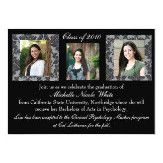 Convite da graduação do damasco convite 12.7 x 17.78cm