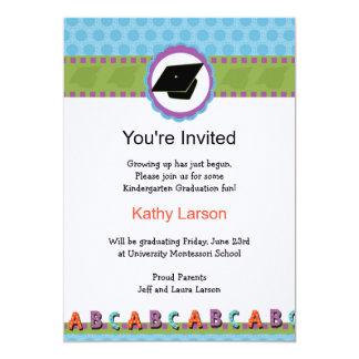 Convite da graduação do jardim de infância