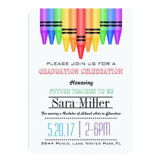 Convite da graduação do professor do arco-íris de