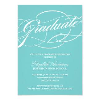 Convite da graduação do roteiro da caligrafia convite 12.7 x 17.78cm