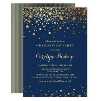 Convite da graduação dos azuis marinhos dos