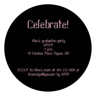 Convite da graduação dos confetes