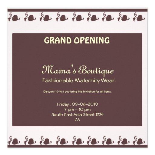 Convite da grande inauguração