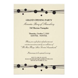 Convite da grande inauguração de Mercedes-Benz