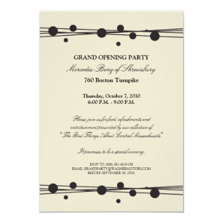 Convite da grande inauguração de Mercedes-Benz Convite 12.7 X 17.78cm