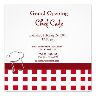 Convite da grande inauguração do café