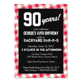 Convite da GRELHA do quintal do aniversário