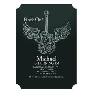 Convite da guitarra do vôo