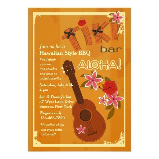 Convite da guitarra havaiana