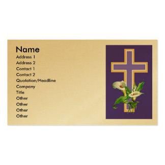 Convite da igreja cartão de visita